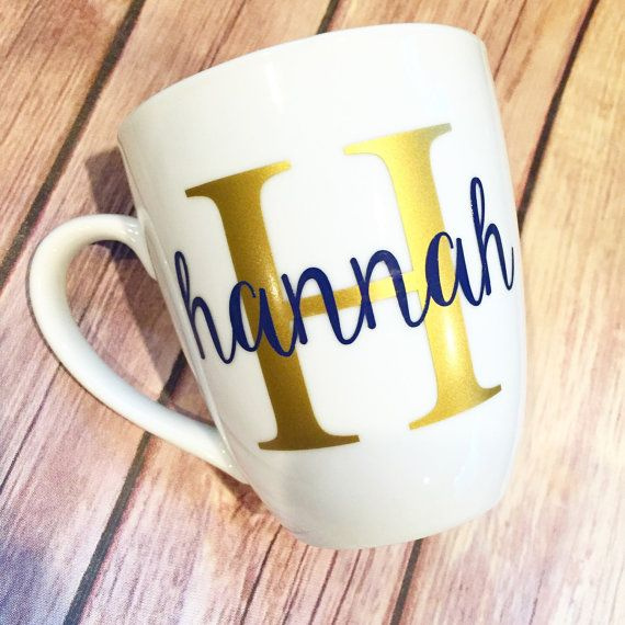 12oz Coffee Cup Mug Personalized/Monogrammed by ToPrepfection on Etsy...perfect preppy gift