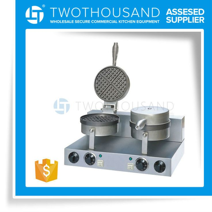 2015 Double Heads Plate Dia 190 MM Industrial Egg Waffle Maker
