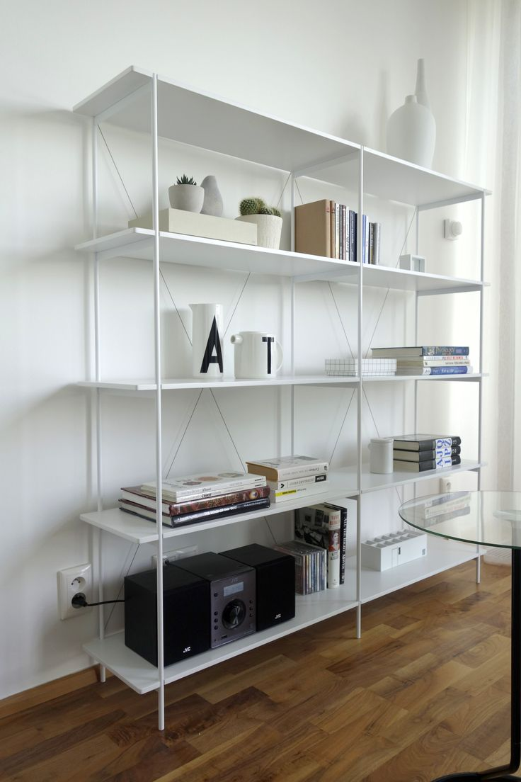 White airy shelf.