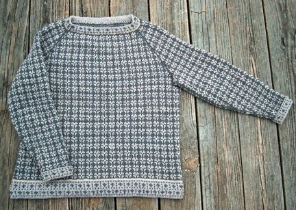 Faroe Islands knitted sweater - I like the very classic yet interesting and textured pattern