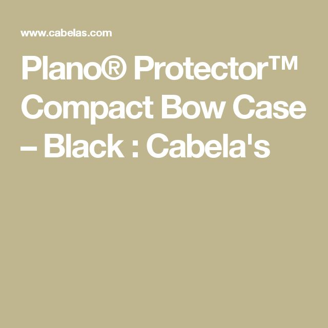 Plano® Protector™ Compact Bow Case – Black : Cabela's