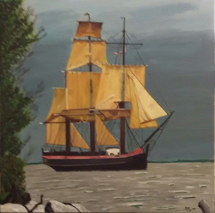 My painting - Ship