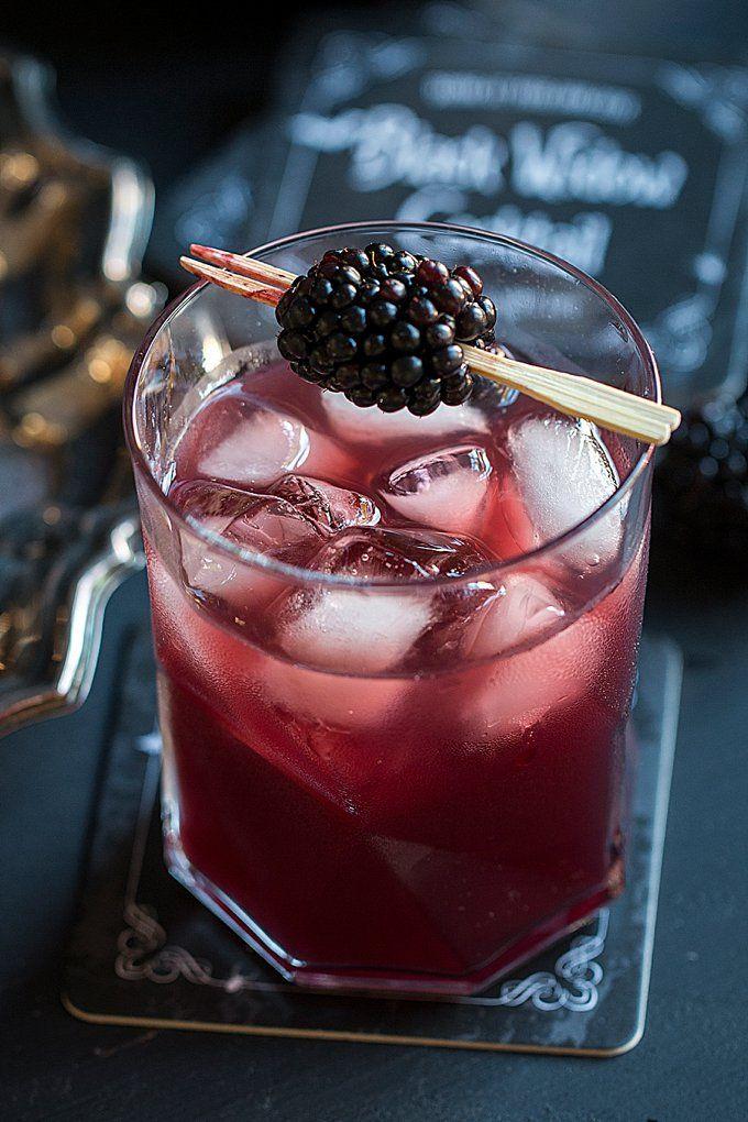 Black Widow Cocktail Recipe Easy halloween cocktails