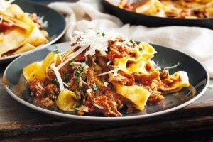 Slow cooker Duck ragu with pappardelle