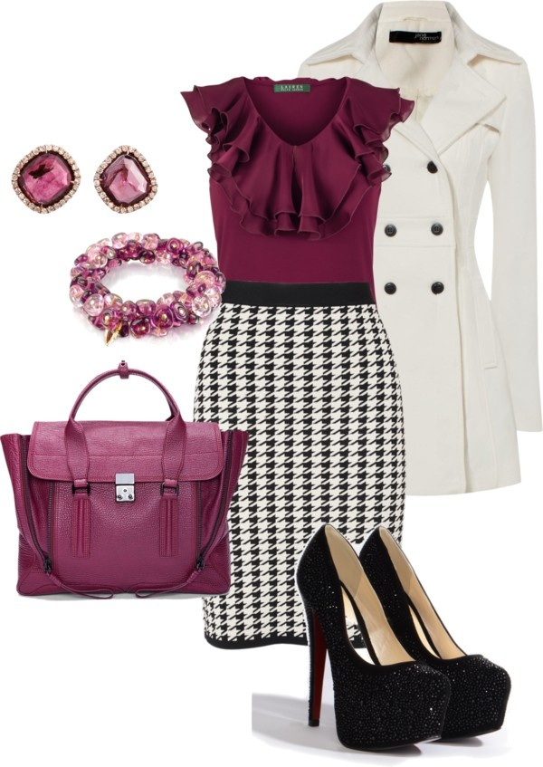 """Houndstooth 3"" by tora-gabriel ❤ liked on Polyvore"