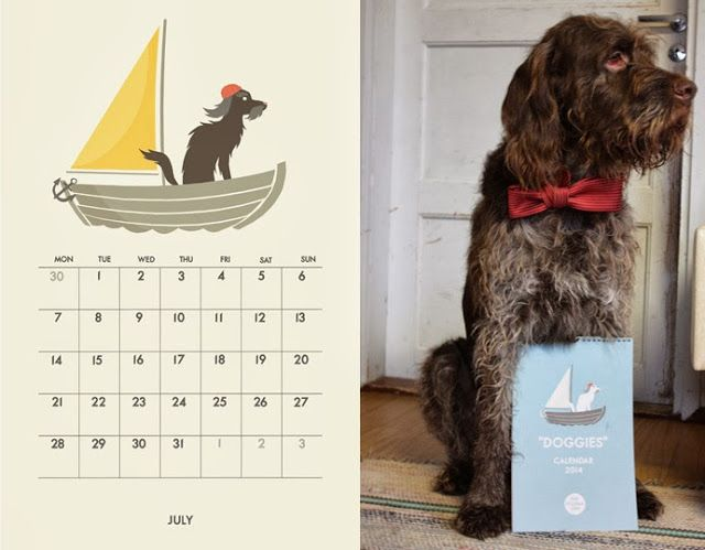 Doggies calendar 2014 and Sisu.
