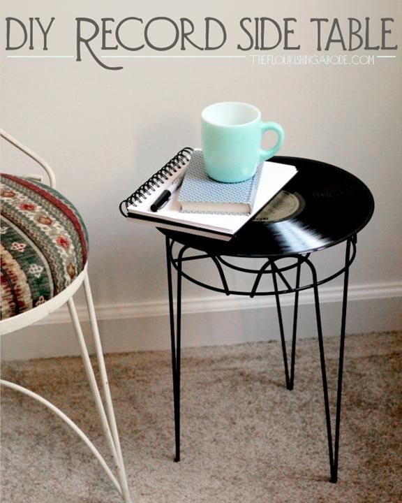 April over at The Flourishing Abode  Takes a wire planter…a record and check it out…how cool is this! She has some really interesting and fabulous other upcycle projects on her blog… so take a peek…ideas ideas ideas!!!