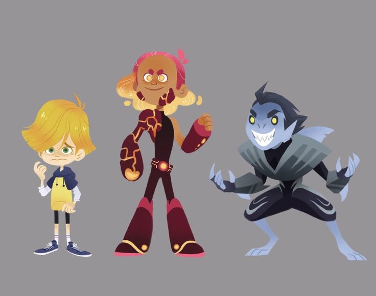 Sharkboy and Lavagirl lineup for my character design final!