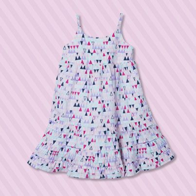 Pumpkin Patch Printed Midi Dress - 100% cotton, available in sizes 12-18m to 6 years http://www.pumpkinpatchkids.com/