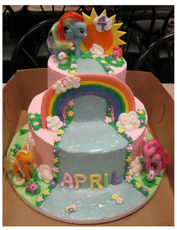 my little pony birthday cakes | My Little Pony Tiered Cake — Birthday Cake Photos