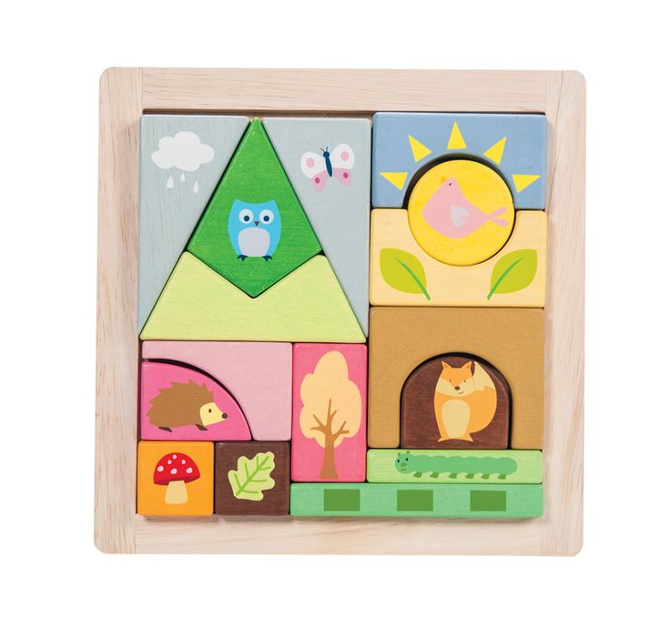 PETILOU Woodland Blocks Tray
