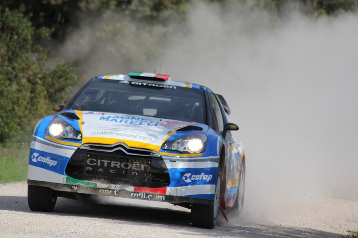 Luca Pedersoli in action Wrc Sardinia 2012