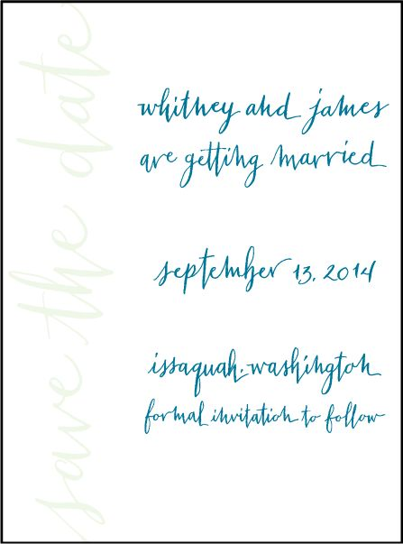 Letterpress Wedding Save the dates | Mitty Calligraphy Design | Bella Figura Letterpress
