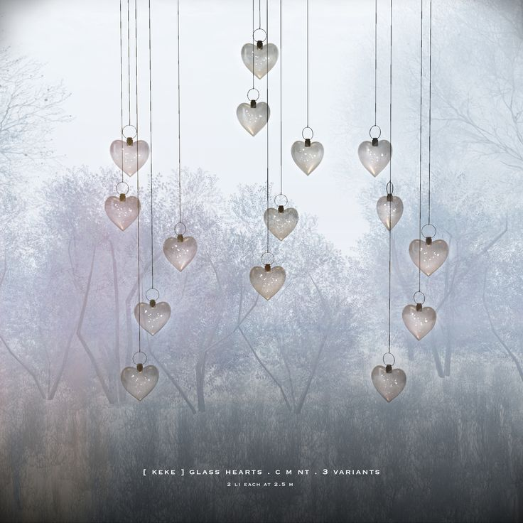 https://flic.kr/p/Q6PZyb | [ keke ] glass hearts for The Forest december | join group @ [ keke ] maps.secondlife.com/secondlife/Manet/129/92/21