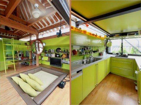 Casa coreana con diseño interior italiano