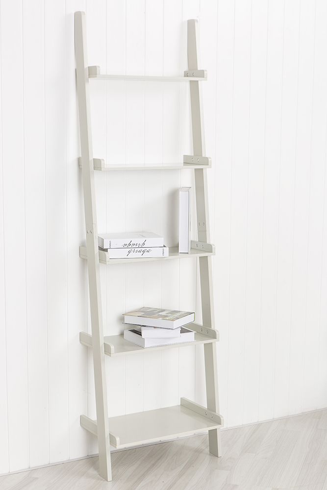 Leaning-Ladder-Book-Shelf-Bookcase-Stand-Free-Standing-Shelves-Storage-Unit-in-W