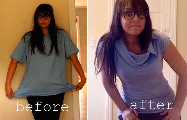 2 simple T-shirt refashions