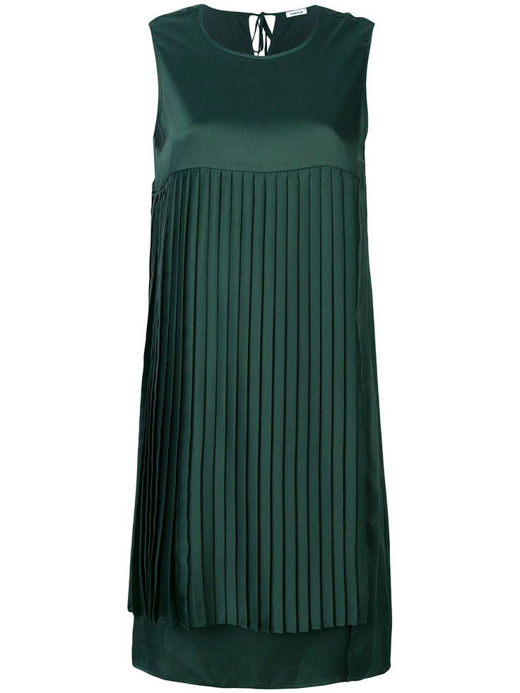P.A.R.O.S.H. pleated shift dress