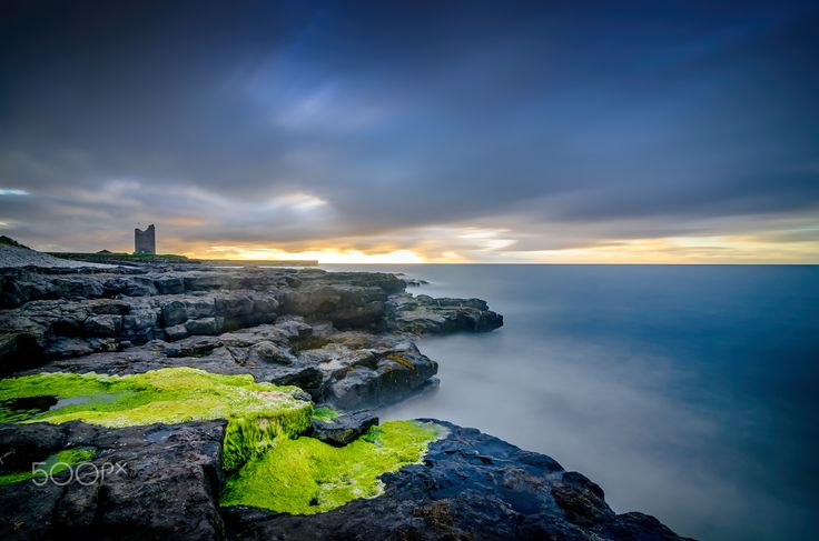 """O'Dowds Castle - Taken at Easkey Beach along Irelands' Wild Atlantic Way with O'Dowds Castle on the left and the wilds of the ocean battering the rock in front. Stay in touch: <a href=""""https://www.facebook.com/kathrynconwayphotography"""">Facebook Page</a>, <a href=""""https://instagram.com/conwaykathryn/"""">Instagram</a> or <a href=""""https://twitter.com/kcgrasshopper/"""">Twitter</a>"""