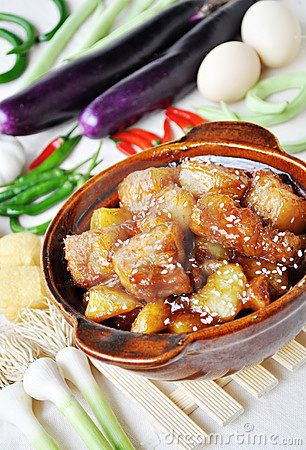Chinese food braised pork