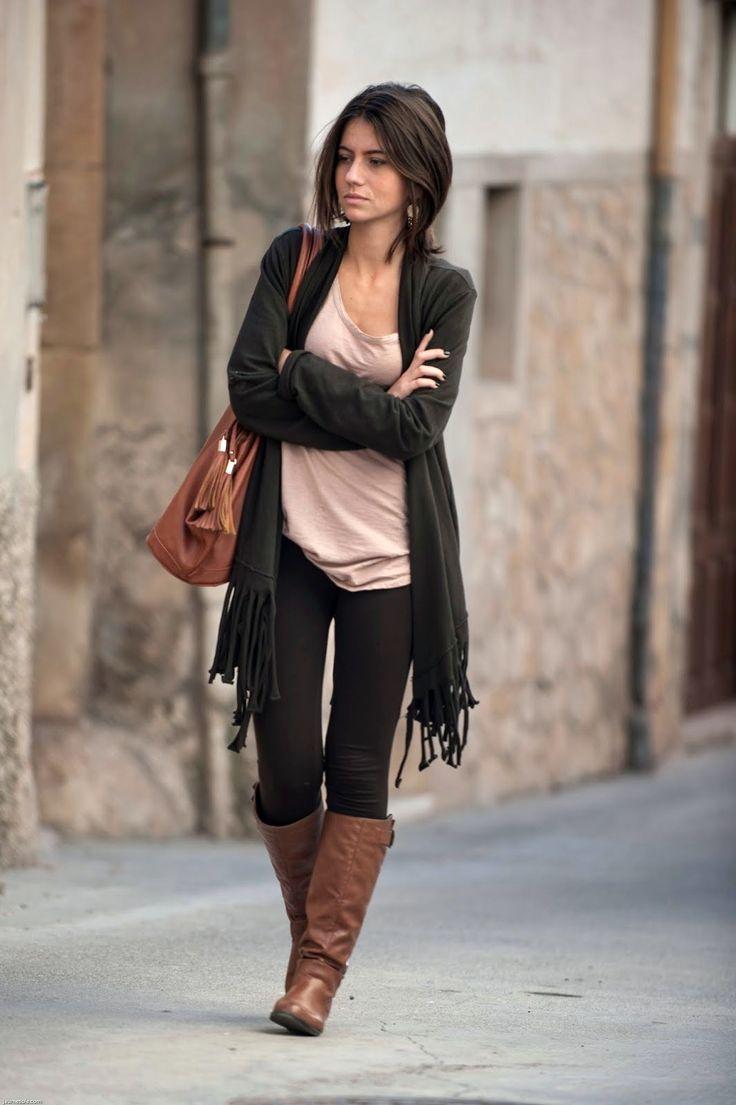 awesome 50 Идей, с чем носить рыжие сапоги без каблука — Модные образы на каждый день Читай больше http://avrorra.com/s-chem-nosit-ryzhie-sapogi-bez-kabluka/