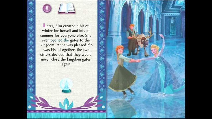Frozen Storybook App This link is to FROZEN and a
