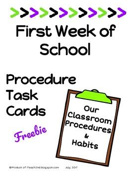 Procedures, habits, routines, rules - fill the first days of school. It is necessary to lay the foundation for a successful year for your students and yourself. Don't get caught in the trap of teacher talk, talk, talk. After a little while your students will only hear