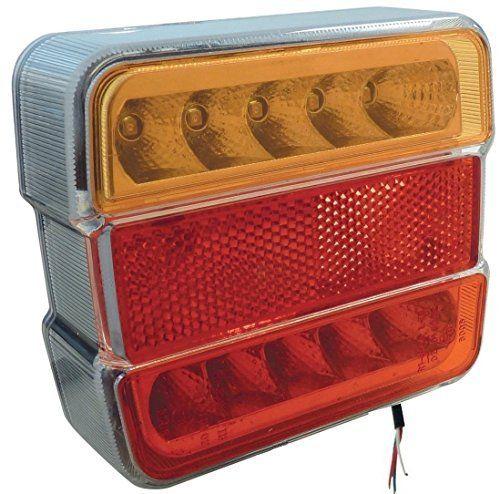 FEU ARRIERE REMORQUE A LED 5 FONCTIONS: Feu à LED 5 fonctions pour remorques Modèle polyvalent : Droite ou gauche ; 12 ou 24 Volts Etanche…