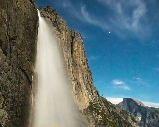 Tallest waterfall: Yosemite Falls, Yosemite National Park, CA At 2,425 feet, the West's most iconic waterfall is a head-turner no matter how you get there. But since the Yosemite Falls Trail is one of the most popular hikes in the park, we suggest going the long way, on a backpacking trip along the North Rim Trail (El Cap to Tenaya Canyon is a 30-mile tour de force). You can camp just upstream from the top of the falls and walk down for a sunset view when most daytrippers are gone.
