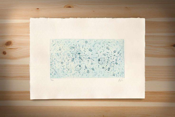 Microorgansims etching #printmaking #etching #biology