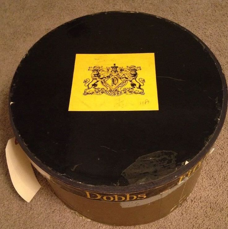 Vintage Hat Box ONLY - DOBBS HATS FIFTH AVENUE NEW YORK