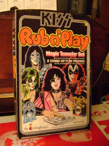 Original Rare Vintage Kiss Colorforms 1979 Aucoin Rub n Play Box Extras