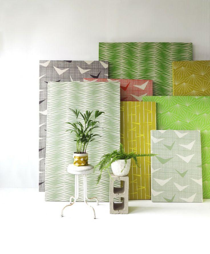 Paradise is Here fabrics panels 2