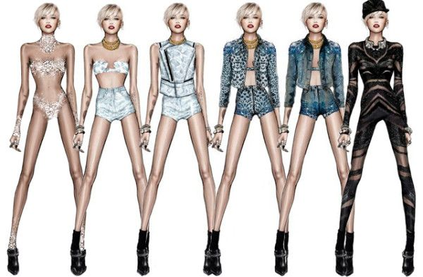 Miley Cyrus Bangerz World Tour Costumes Are Oh So Miley! - GLAMAZON DIARIES