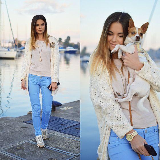 Get this look: http://lb.nu/look/8596359  More looks by Tamara Bellis: http://lb.nu/tamarabellis  Items in this look:  H&M Shirt, Pink Woman Cardigan, Bershka Pants, Zara Sneakers   #casual #chic #street