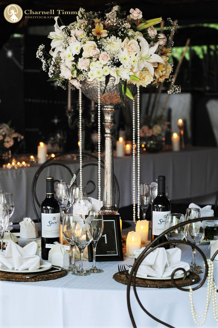 Table Flowers at Spier Wine Estate, Stellenbosch. Charnell Timms Photography