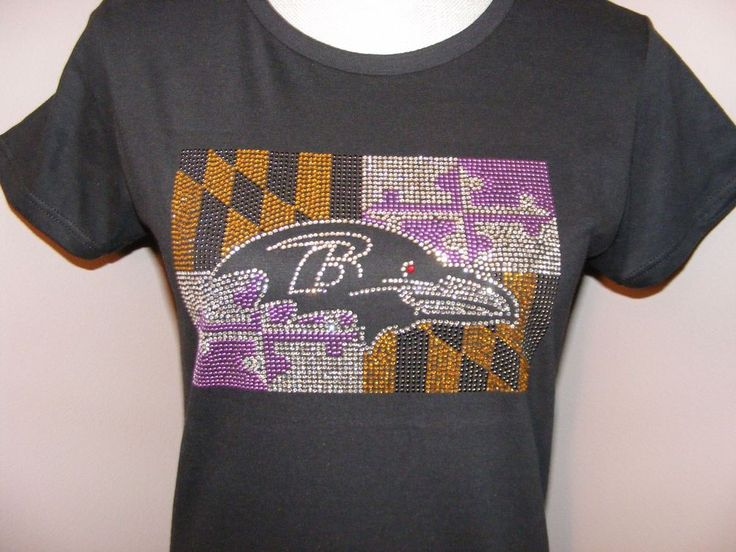 Baltimore Ravens Team Bling Rhinestone Purple Maryland Flag #BaltimoreRavens