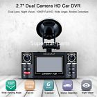 """﹩47.49. Dual Lens Car Vehicle DVR Dash Cam Digital Video Recorder 1080P HD Night Vision   Manufacturer Part Number - Universal for Auto Car SUV Pickup Offroad,Truck., Interchange Part Number - Car Driving Digital Video Recorder DVR Camcorder., Other Part Number - Dual Camera 1080P Full HD Night Vision G-Sensor, Surface Finish - As pictures show., Warranty - Yes, Video Format - PAL/NTSC, Language - English,Russian, screen - 2.7"""" 16:9 TFT LCD screen, Country/Region of Manufacture -"""