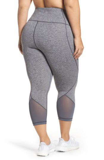 f2aa5a33dced05 Get fit in style - Plus Size Women's Zella 'Hatha' High Waist Crop Leggings  #leggings #exercisewear #commissionlink