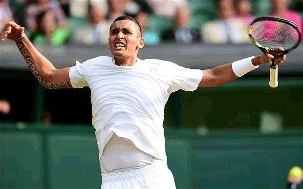 19 yo Nick Kyrgios upsets Rafael Nadal at Wimbledon 2014
