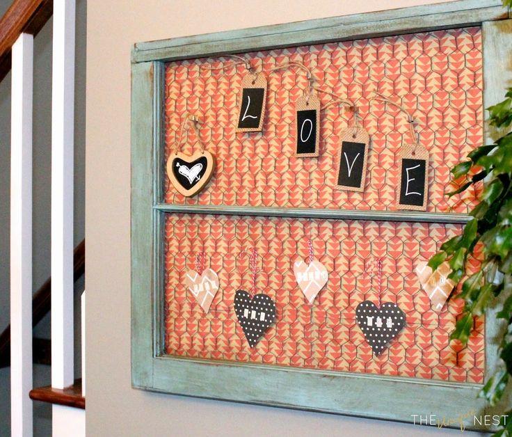 Valentine Wall Decor Diy : Simple valentine s diy wall art theuniquenest