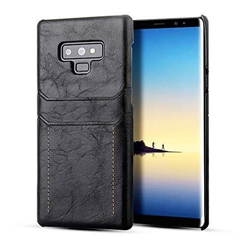 Samsung Galaxy Note 9 Hulle Schlankes Leder Soft Lederhulle Rubber Phone Cover Case Fur Samsung Galaxy Note 9 2018 Backcover Schwarz Lederhulle Leder Samsung