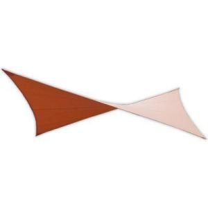 EarthCo Shade Sails 18 ft. Rust Square Patio Shade Sail with Mounting Hardware-009 at The Home Depot