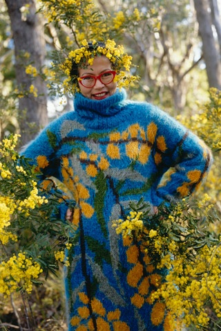 Wattle, mohair, designed by Jenny Kee, Australia 1977.   Photo: Sue Stafford
