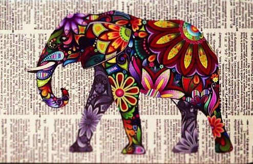 Cut anything with color and paste it on a background with words and voila! Love the look.
