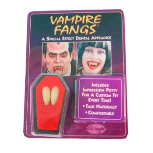 Vampier tanden 2 stuks in kistje 3.95