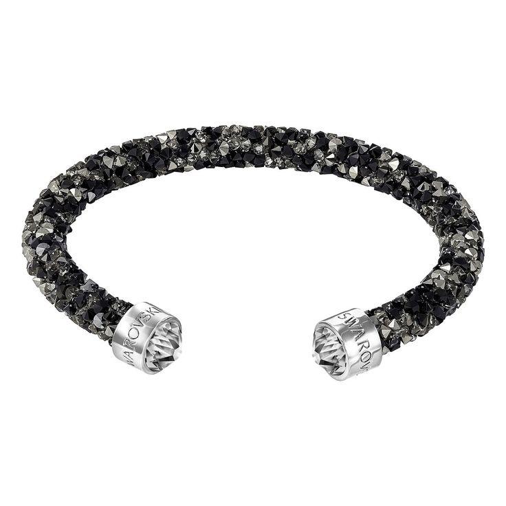 Swarovski Crystaldust Cuff - Dark Crystals - 5255902, Women's
