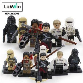 Star Wars 7 Action Figures The Force Awakens Clone Storm Trooper Yoda Darth Vader Building Blocks Brick Compatible With Legoe