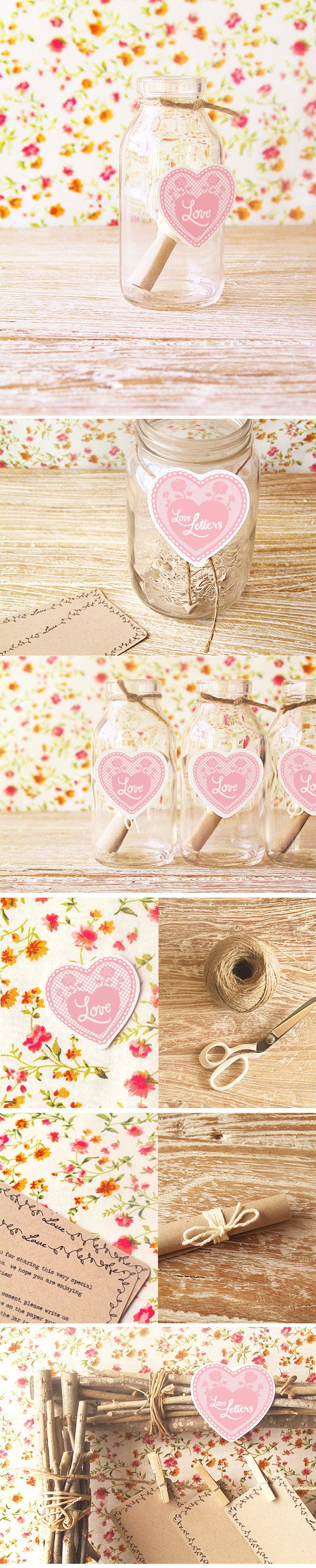 DIY Wedding Love Notes. #Wedding #Gift #Craft #Homemade #Love #Ideas