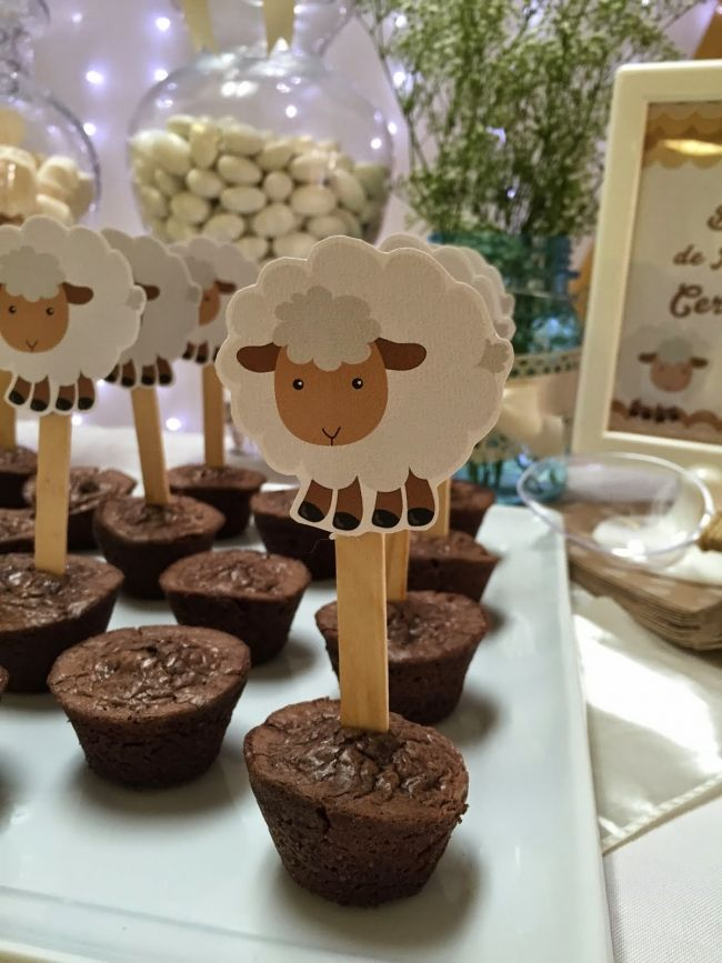 Boys Little Lamb Baby Shower Themed Party Food Ideas